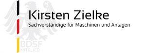 Kirsten Zielke Sachverständige für Maschinen und Anlagen BDSF-Mitglied